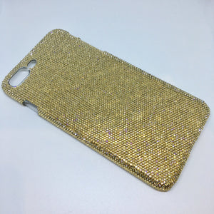 Exquisite Bling Case For iPhone SE made with Teenie Tiny 5ss Golden Shadow Swarovski Crystals Gold Rhinestone Back Case