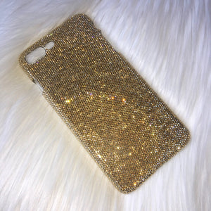 "Exquisite Bling Case For iPhone 6S Plus (5.5"") made with 5000 Teenie Tiny 5ss Golden Shadow Swarovski Crystals Gold Rhinestone Back Case"