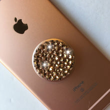 Bling PopSocket ROSE GOLD made with Swarovski Crystals PopSockets Grip iPhone Holder Stand custom