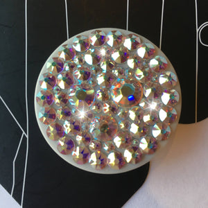 Bling PopSocket AB Iridescent made with Swarovski Crystals PopSockets Grip iPhone Holder Stand Custom