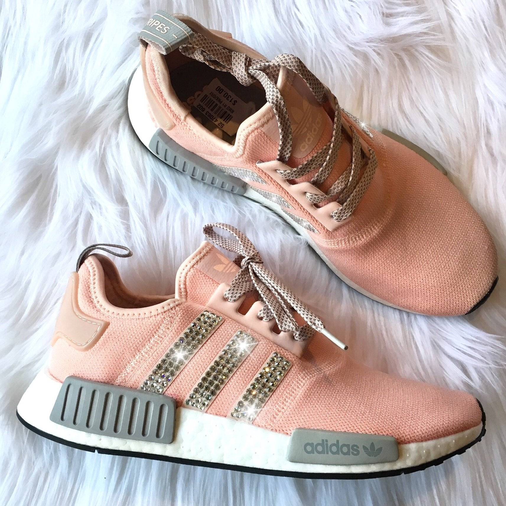 e1e80fdc8 ... Vapour Pink  Bling Adidas NMD with Swarovski Crystals   Women s  Originals NMD R1 Runners Casual Shoes   Vapour ...
