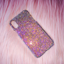 For iPhone X / 10 - Small 12ss Iridescent Crystal AB Rhinestone BLING Back Case handmade with 100% real Swarovski Crystals