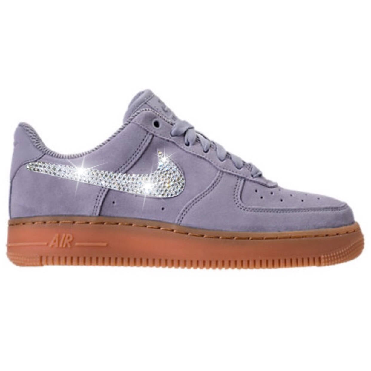 Bling Nike Air Force 1  07 SE with Swarovski Crystals   Glacier Grey    Bedazzled ... ebca5a37d