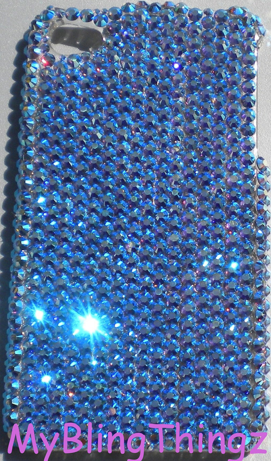 Iridescent Tanzanite AB - Aurora Borealis - Crystal Rhinestone BLING Back Case for iPhone SE 5 5S handmade with 100% Swarovski Crystals