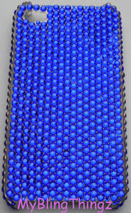 Rich Cobalt Deep Purple Blue Crystal Diamond Rhinestone Bling Back Case for Apple iPhone 5 5S SE handmade using 100% Swarovski Elements