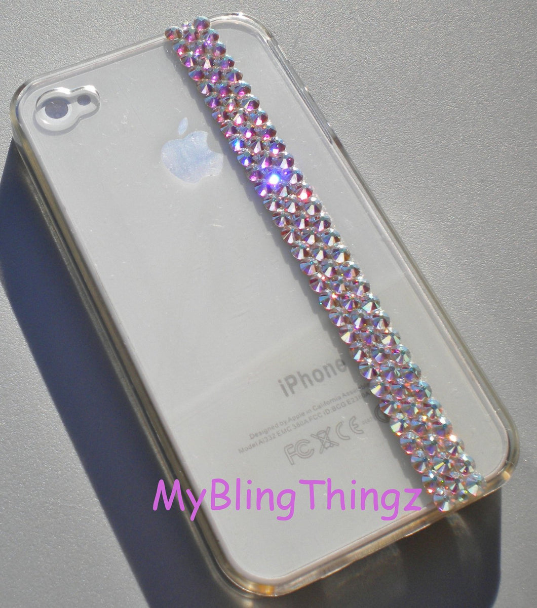 For New iPhone 6 (4.7) ~ Crystal AB - Aurora Borealis - Rhinestone Bling Back Case handmade using Crystals from Swarovski