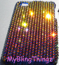 "For iPhone 7 Plus (5.5"") - Meridian Blue - Multi Color - Crystal Diamond Rhinestone BLING Back Case BeDazzled w/Crystals from Swarovski"