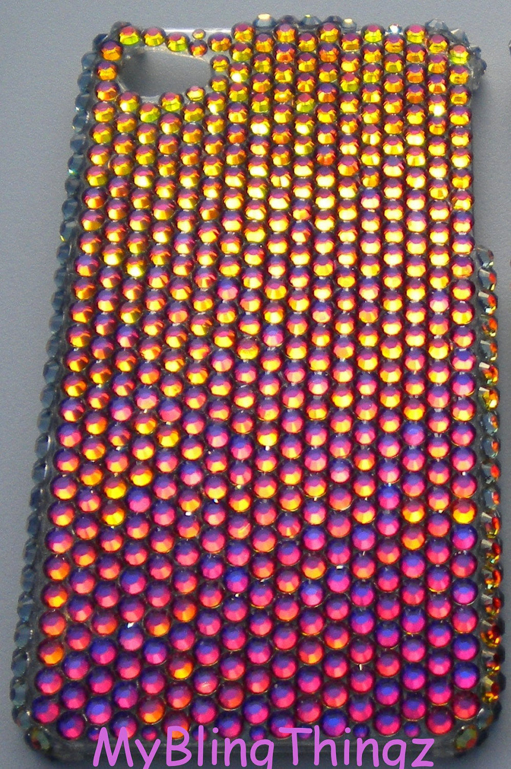 For iPhone SE 5 5S - Exquisite Multi Color Volcano Crystal Diamond Rhinestone BLING Back Case made using 100% Crystals from Swarovski