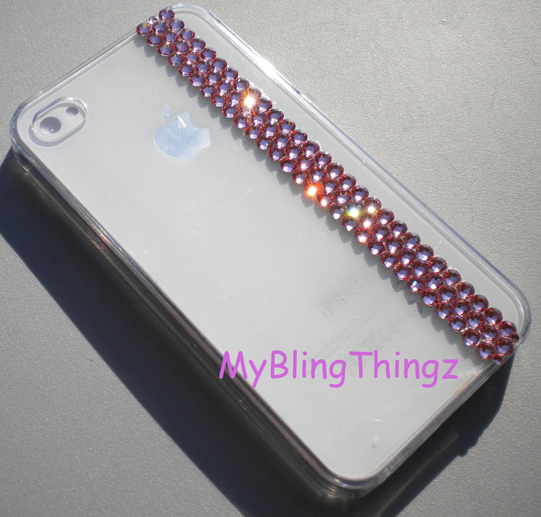 Simply Exquisite Light Baby Pink Crystal Bling Rhinestones on Clear Back Case for Apple iPhone 5 5S handmade using Swarovski Elements