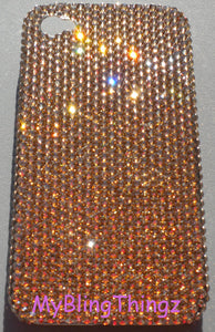 Small 12ss Crystal Golden Shadow GOLD Diamond Rhinestone BLING Back Case for iPhone SE or 5 / 5S made with 100% Swarovski Crystals