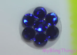 Sparkly Crystal Bling Home Button Sticker for Apple iPhone 3GS 4 4S 5, iPad 2 3 4 Mini & iPod Touch All made w/ Swarovski Elements Cobalt