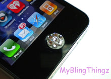Crystal Bling Home Button Sticker for Apple iPhone 3GS 4 4S 5, iPad 2 3 4 Mini & iPod Touch All handmade w/ Swarovski Elements White Opal
