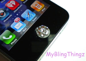 9ss Crystal Bling Home Button Sticker for Apple iPhone 3GS 4 4S 5 S 6 iPad 2 3 4 Mini iPod Touch All made with Swarovski Elements Crystal AB