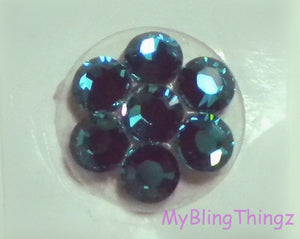Crystal Bling Home Button Sticker for Apple iPhone 3GS 4 4S 5, iPad 2 3 4 Mini & iPod Touch All made w/ Swarovski Elements Zircon Turquoise