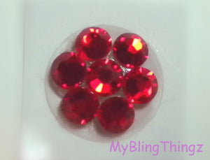 Crystal Bling Home Button Sticker for Apple iPhone 3GS 4 4S 5, iPad 2 3 4 Mini & iPod Touch All handmade w/ Swarovski Elements Bright Red