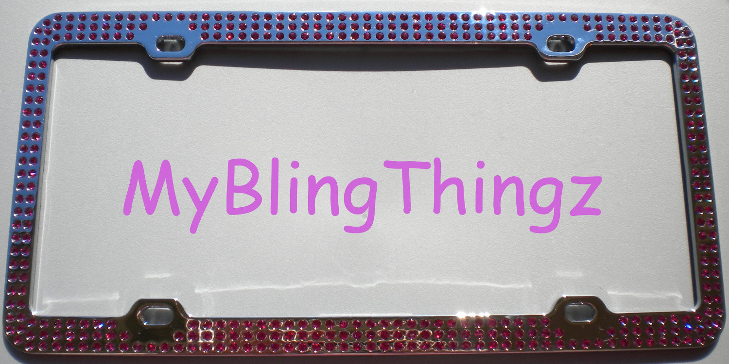 3 Rows Fuchsia Hot Pink Crystal BLING Inset / Embedded 3 Rows ...