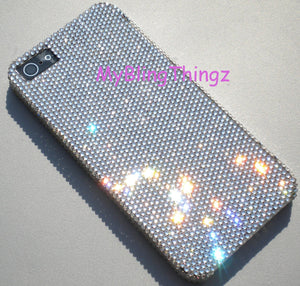 For iPhone 8 - Tiny 7ss Clear Swarovski Crystal Diamond Rhinestone BLING Back Case made using 100% Swarovski Crystals