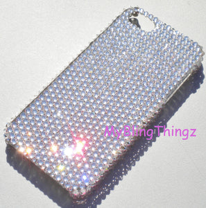 For Apple iPhone SE or 5 / 5S - Clear Crystal Diamond Rhinestone BLING Back Case made with Swarovski Crystals