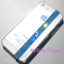 Simply Exquisite Crystal Aqua Diamond Bling Rhinestones on Clear Crystal Back Case for iPhone SE 5 5S made with Swarovski Elements