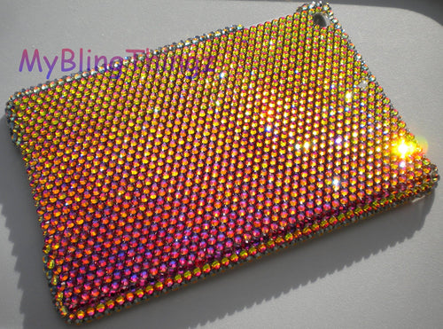 For iPad Mini 1 2 3 ~ Mutli Color Volcano (Red Gold Purple) Diamond Rhinestone BLING Case handmade using 100% REAL Swarovski Crystals