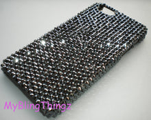For iPhone 5 5S SE - Rare BLACK Jet Hematite Crystal Rhinestone Back Case handmade using 100% CRYSTALLIZED Swarovski Elements