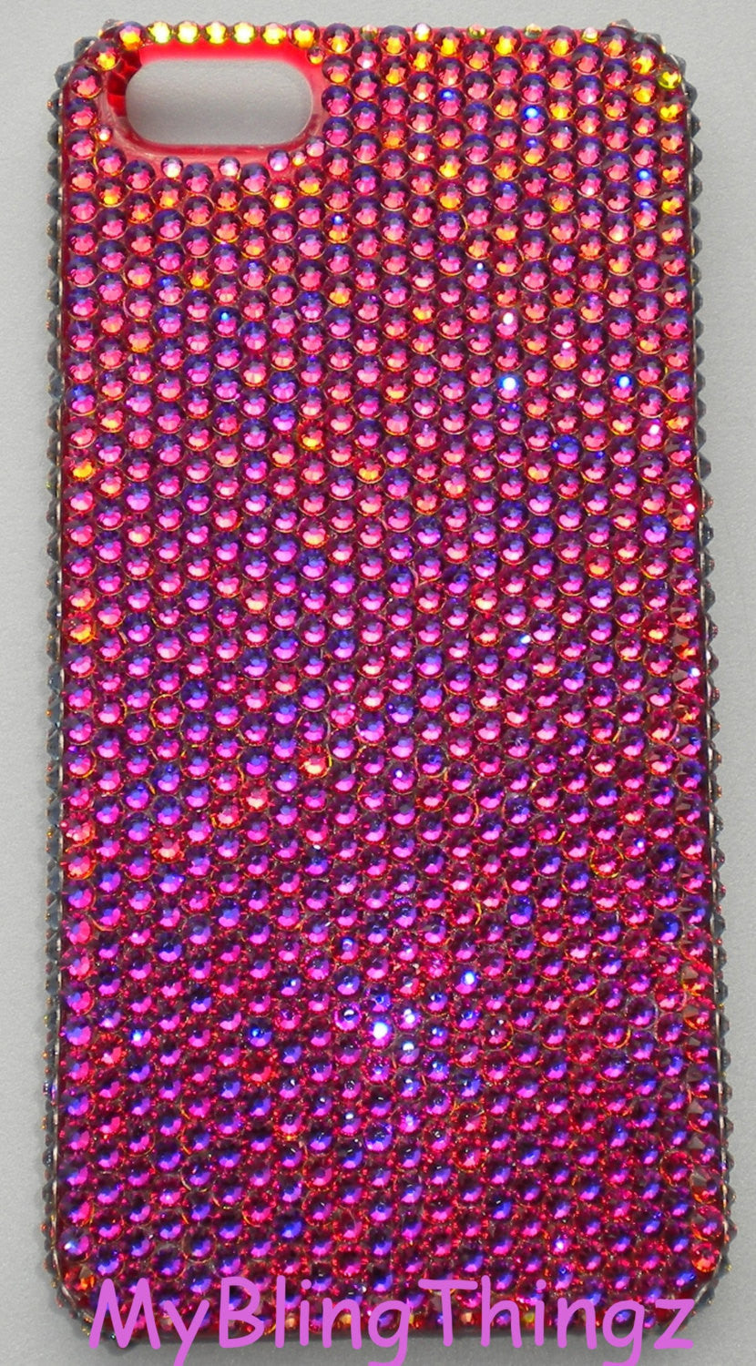 Small 12ss Volcano - Multi Color - Crystal Diamond Rhinestone BLING Back Case for iPhone SE 5 5S handmade with 100% Swarovski Elements