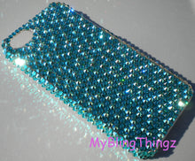 For iPhone 5 5S SE - Turquoise Blue Green Zircon & Zircon AB Mix Rhinestone BLING Back Case handmade with Crystals from Swarovski