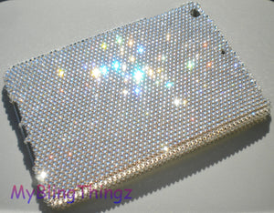 For Apple iPad Mini 1 2 3 - 16ss / 4mm Clear Crystal Diamond Rhinestone BLING Case handmade using 100% Swarovski Crystals