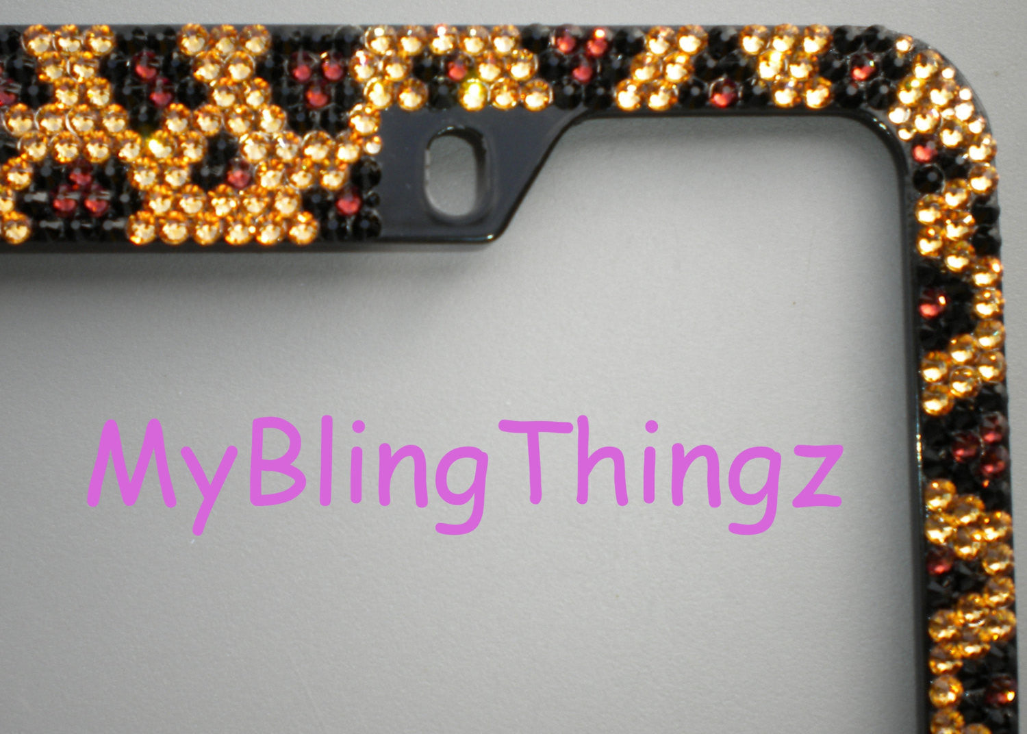 Rhinestone LEOPARD Design ~ Crystal License Plate Frame Bling ...