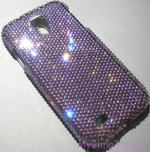 927bff4e2 Small 12ss Light Amethyst Crystal Diamond Rhinestone BLING Back Case for  Samsung Galaxy S5 handmade using