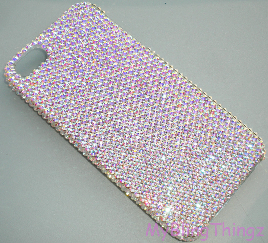 Small 12ss Crystal AB (Iridescent) - Aurora Borealis - Bling Back Case for iPhone 5 5S SE handmade with 100% Swarovski Elements