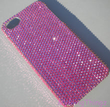 Small 12ss Rose Pink Crystal Diamond Rhinestone Bling Back Case for iPhone 5 5S SE made with 100% Swarovski Elements