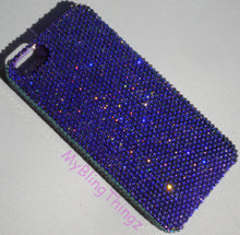 For iPhone 5C - Tiny 9ss HELIOTROPE Luxe Rich Purple Crystal Diamond Rhinestone BLING Back Case made with 100% Swarovski Elements