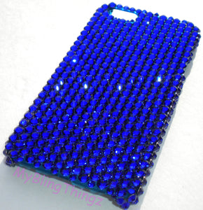 For iPhone SE or 5 / 5S - Cobalt - Rich Purple Blue Crystal Diamond Rhinestone BLING Back Case handmade with 100% Swarovski Crystals