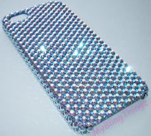 For iPhone SE or 5/ 5S - Light Sapphire AB - Iridescent Lt Blue - Crystal Diamond Rhinestone BLING Back Case made w/ 100% Swarovski Crystals