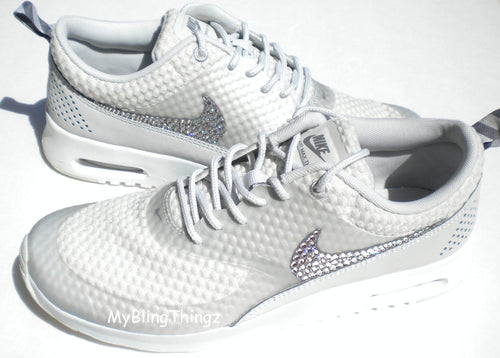 a8ad2464f1bc Nike Air Max Thea Premium Shoes - Light Base Grey   Cool Grey   Metallic  Silver