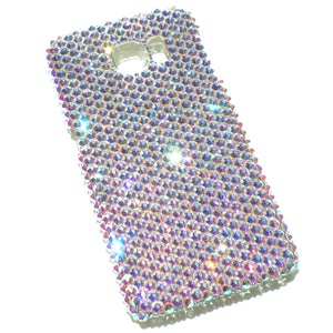 For New Samsung Galaxy S6 Edge - Iridescent Crystal AB Rhinestone BLING Back Case handmade with 100% Crystals from Swarovski