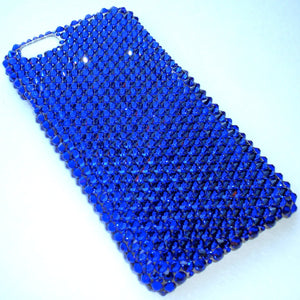"For NEW iPhone 6S (4.7"") - Cobalt - Dark Rich Blue/Purple - Diamond Rhinestone BLING Back Case handmade with 100% Crystals from Swarovski"