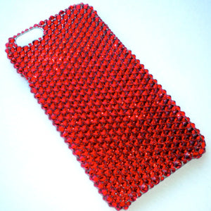 "For iPhone 6 (4.7"") - Light Siam - Bright Cherry Red - Bedazzled Rhinestone Bling Back Case handmade with 100% Crystals from Swarovski"