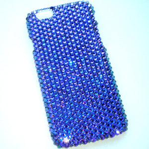 "For iPhone 7 Plus (5.5"") - Heliotrope - Luxe Rich Purple - Crystal Diamond Rhinestone BLING Back Case handmade with 100% Swarovski Elements"