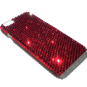 "For iPhone 6S Plus (5.5"") - Siam - Dark Blood Red - Bedazzled Rhinestone Bling Back Case handmade with 100% Crystals from Swarovski"