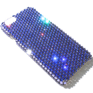 "For iPhone 7 Plus (5.5"") ~ Tanzanite Purple Diamond Rhinestone BLING Back Case handmade using 100% Crystals from Swarovski"