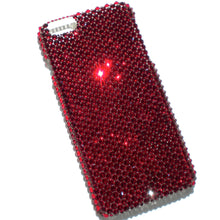 "For iPhone 7 Plus (5.5"") - Siam - Dark Blood Red - Bedazzled Rhinestone Bling Back Case handmade with 100% Crystals from Swarovski"