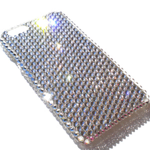 "For NEW iPhone 6S Plus (5.5"") - Luxury Clear Crystal Diamond Rhinestone BLING Back Case handmade with 100% Crystals from Swarovski"