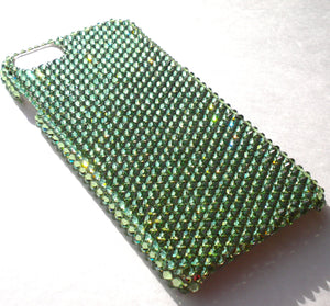"For iPhone 6 (4.7"") ~ Green Apple Peridot Diamond Rhinestone BLING Back Case bedazzled with 100% Crystals from Swarovski"
