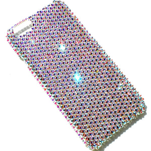 "For Apple iPhone 7 (4.7"") ~ 16ss Crystal AB Aurora Borealis Iridescent Diamond Rhinestone BLING Back Case made with Crystals from Swarovski"