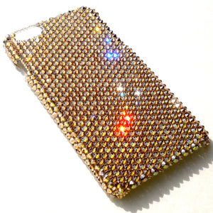 "For NEW iPhone 6S (4.7"") - Luxury Gold - Crystal Golden Shadow - Crystals from SWAROVSKI Diamond Rhinestone BLING Back Case"