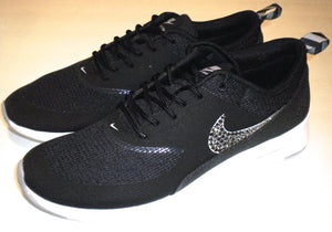 finest selection b3b23 958eb Women s Nike Air Max Thea Running Shoes - Black   Grey   White - Bedazzled  with