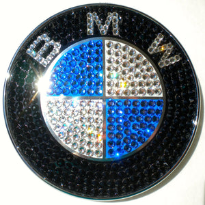 Crystal BLING BMW Emblem Badge ~ Custom bedazzled by hand with 100% REAL Crystals from Swarovski ~ Front Hood, Rear Trunk ~ 82mm