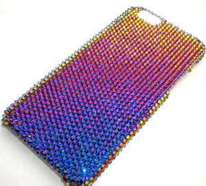 "For iPhone 6 (4.7"") - Small 12ss Meridian Blue - Multi Color - Crystal Rhinestone BLING Back Case BeDazzled w/Crystals from Swarovski"